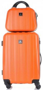 Kufry renomované firmy Madisson Sada 2 v 1 oranžová