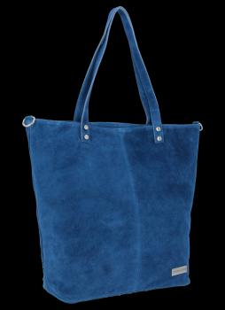 Univerzální Kožené Dámské Kabelky Shopper Bag Vittoria Gotti Džínová