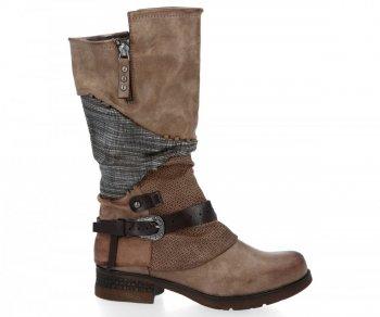 Khaki módní dámské boty Selena
