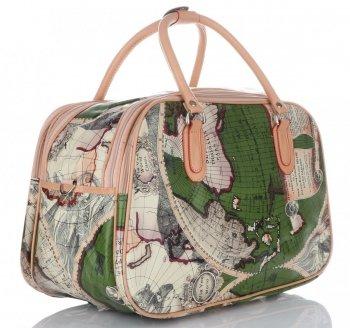 STŘEDNÍ cestovní taška kufřík Or&Mi World Multicolor - Zelená
