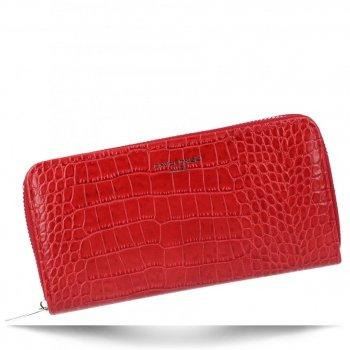 Elegantní Dámská Peněženka s motivem aligátora David Jones Červená