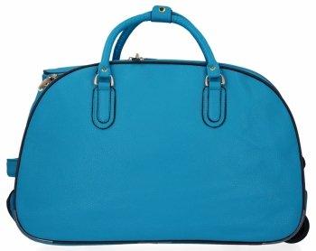 Cestovní taška na kolečkách s výsuvnou rukojetí Or&Mi Tyrkysová
