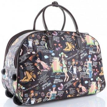 Cestovní taška na kolečkách s výsuvnou rukojetí Bearing Girl Or&Mi multicolor hnědá