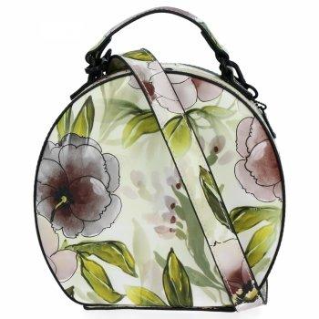 Módní Kabelky Listonošky květinový vzor Diana&Co Černá