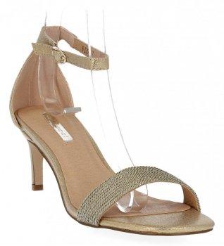 Zlaté dámské sandály na podpatku Bellucci