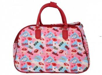Cestovní Taška Kufřík Medium Or&Mi Kiss Multicolor - Růžová