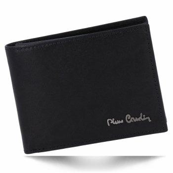 Klasická Pánská Kožená Peněženka Pierre Cardin Černá