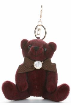 Přívěšek ke kabelce elegantní medvídek burgundské