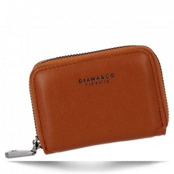 Univerzální Dámská Malá Peněženka Diana&Co Hnědá
