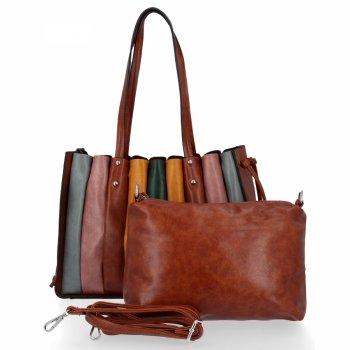 Módní Dámské Kabelky Shopper Bag s kosmetičkou David Jones Hnědá
