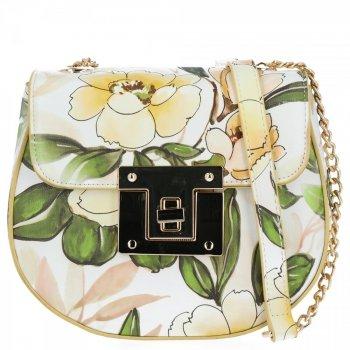Diana&Co Módní Kabelky Listonošky květinový vzor Žlutá