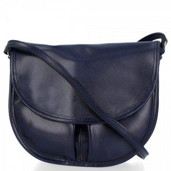 Italské kabelky listonošky Vera Pelle Tmavě Modrá