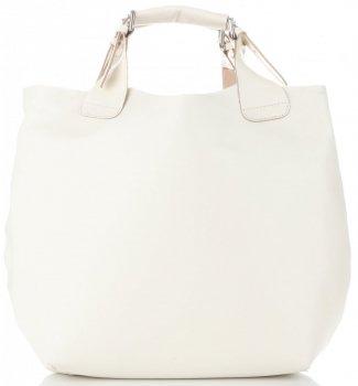 Kožená kabelka Shopperbag s kosmetickou kapsičkou Světlá béžová