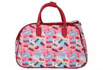 Malá Cestovní Taška Kufřík Or&Mi Kiss Multicolor - Růžová