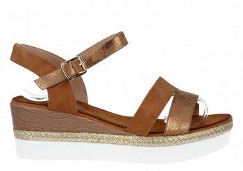 Camelové dámské sandály na platformě Lady Glory