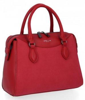 Elegantní Dámské Kabelky Kufřík David Jones Červená