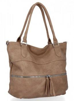 Univerzální Dámská Kabelka Herisson Shopper Bag Tmavě Béžová