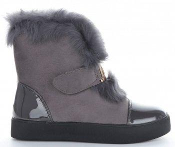 Módní Dámské Sneakersy boty sněhule Sergio Todzi šedé