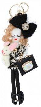 Přívěšek ke kabelce Nicky Doll Černá
