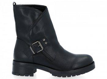 Černé kotníkové boty Aria