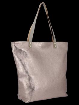 Módní Kožené Dámské Kabelky Shopper Bag Vittoria Gotti Hnědá