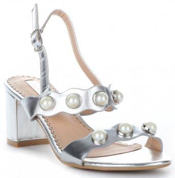 elegantní dámské polobotky Bellucci lakované stříbrné