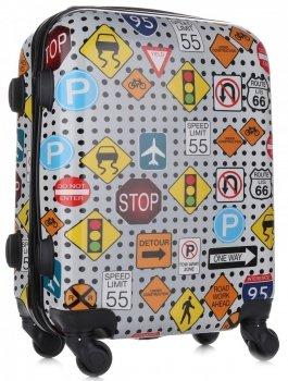 Palubní kufřík Or&Mi silniční značky 4 kolečka Multicolor