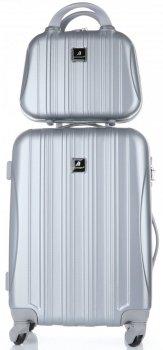 Kufry renomované firmy Madisson Sada 2 v 1 stříbrná