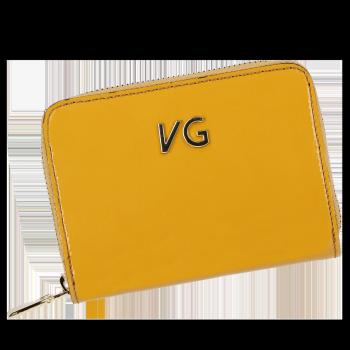 Lakovaná Dámská Kožená Peněženka Vittoria Gotti Made in Italy Hořčičná