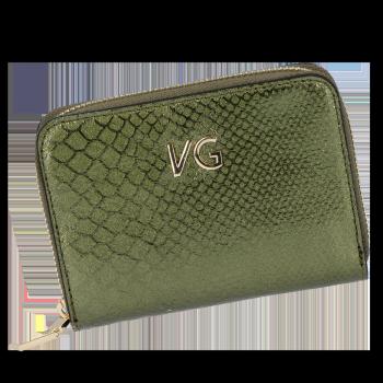 Vittoria Gotti Exkluzivní Dámská Kožená Peněženka s motivem aligátora Made in Italy Zelená