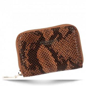 Exkluzivní Dámská Malá Peněženka hadí vzor Diana&Co Hnědá