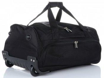 Cestovní taška na kolečkách s teleskopickou rukojetí renomované firmy David Jones černá