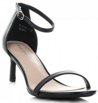 Elegantní Dámské Sandály na podpatku Ideal Shoes Černé