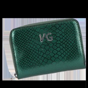 Vittoria Gotti Exkluzivní Dámská Kožená Peněženka s motivem aligátora Made in Italy Lahvově Zelená
