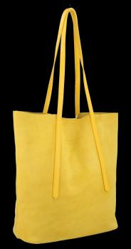 Kožené Dámské Kabelky Shopper Vittoria Gotti Žlutá
