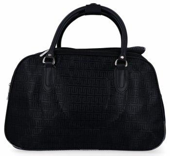 Velká Cestovní Taška Kufřík Or&Mi Greek Style Černá