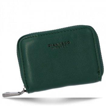 Univerzální Dámská Malá Peněženka Diana&Co Lahvově zelená