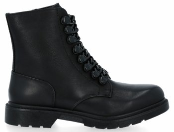 Černé módní kotníkové dámské boty Luna