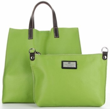 Univerzální Kožené Kabelky 2v1 ShopperBag a Listonoška Zelená