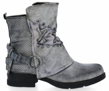 Šedé módní kotníkové boty Alex