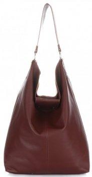 Velká Kožená kabelka Shopper Bag XXL hnědá