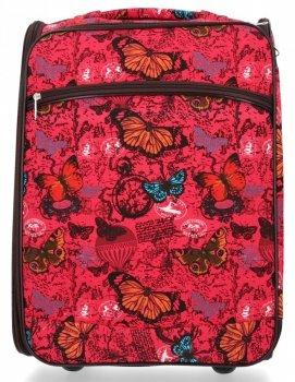 Módní Palubní Kufřík Butterfly značky Or&Mi Červený