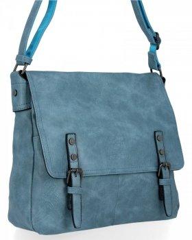 BEE BAG Velká Kabelka Listonoška Adelia Vintage Style Světle Modrá