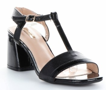 elegantní dámské polobotky lakované Bellucci černé
