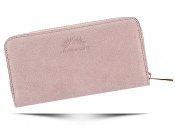 Vittoria Gotti Dámská Kožená Peněženka Made in Italy Prášková Růžová