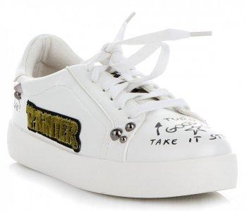 Módní Dámské Sportovní Boty Ideal Shoes Bílé
