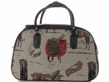MALÁ cestovní taška kufřík Or&Mi Horse Multicolor - béžová