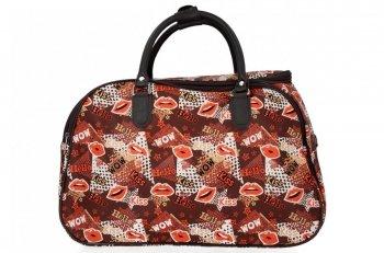 Malá Cestovní Taška Kufřík Or&Mi Kiss Multicolor - Bordová