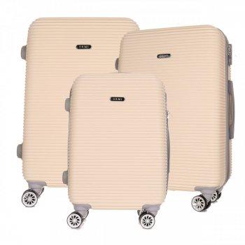Super sada italských kufrů Or&Mi 3 v 1 béžová