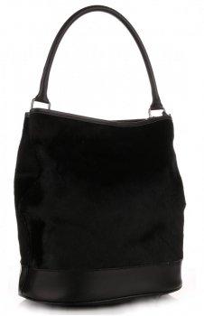 Elegantní Kožená kabelka Mase in Italy Černá